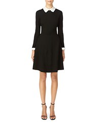 Erin Fetherston Collared Fit And Flare Dress Black Ivory