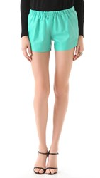 Clover Canyon Leather Shorts Turquoise