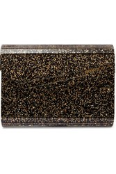 Jimmy Choo Candy Glittered Acrylic Clutch Black