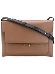 Marni Trunk Pouch Shoulder Bag Women Calf Leather One Size Brown