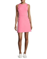 Michael Kors Hand Crochet Half Sleeve Dress Pink