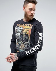 Pull And Bear Pullandbear T Shirt With Megadeth Print In Black Black