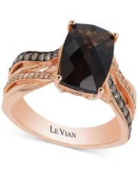 Le Vian Chocolatier Smoky Quartz 3 Ct. T.W. And Diamond 1 4 Ct. T.W. Ring In 14K Rose Gold