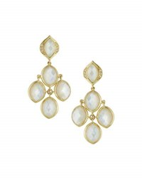 Elizabeth Showers Simone Mother Of Pearl Earrings With Diamonds Gold