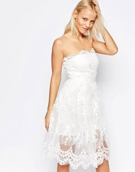 Glamorous Skater Dress With Puffball Skirt White