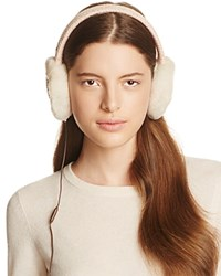 Ugg Wired Headphone Sequined Crochet Earmuffs With Shearling Trim Freshwater Pearl