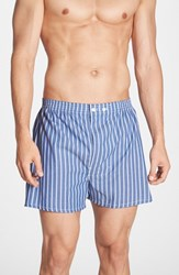 Nordstrom Men's Big And Tall Men's Shop Classic Fit Cotton Boxers Blue Stripe