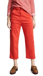 Paul Smith Cropped Trousers Red Orange