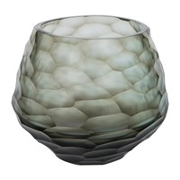 Amara Hidcote Glass Votive Steel Blue