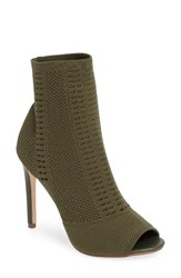 Steve Madden Women's Candid Knit Bootie Olive Fabric