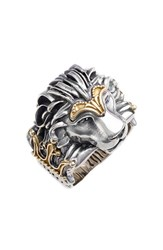 Men's Konstantino Carved Lion Ring