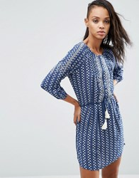 Pepe Jeans Diana Tassle Belted Dress Ocean Blue