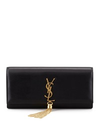 Saint Laurent Cassandre Tassel Clutch Bag Black