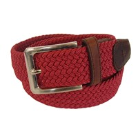 Tyler And Tyler Woven Belt Burgundy Red