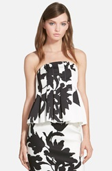 C Meo Collective C Meo 'Art Of Love' Strapless Peplum Bustier Stencil Floral