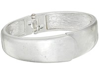 The Sak Small Overlap Hinged Bangle Bracelet Silver Bracelet