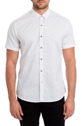 7 Diamonds Men's Soul Dreamer Woven Shirt White