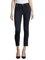 Ivanka Trump Solid Ankle Length Skinny Jeans Blue