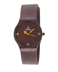 Toywatch Brown Stainless Steel Mesh Bracelet Watch 28Mm
