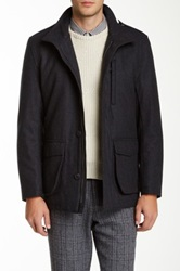 Andrew Marc New York Terry Wool Blend Jacket Gray