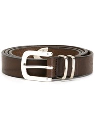 Eleventy Buckled Belt Brown