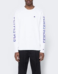 Champion X Beams Ls Crewneck T Shirt White