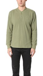 Stussy Stock Thermal Henley Olive