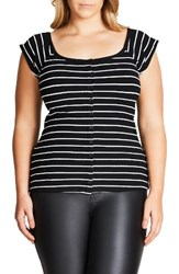 City Chic Plus Size Women's Cute As A Button Top