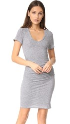 Lanston Ruched T Shirt Dress Heather