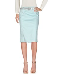 Le Fate Knee Length Skirts Light Green
