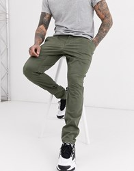 Only And Sons Skinny Fit Chinos In Khaki Green
