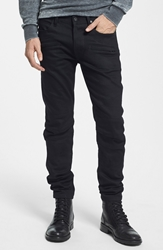 Hudson Jeans 'Blinder' Skinny Fit Moto Jeans Raw Black