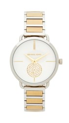Michael Kors Portia Watch Sterling Silver Gold