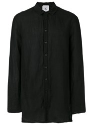 Lost And Found Rooms Pocket Shirt Men Cotton Linen Flax S Black