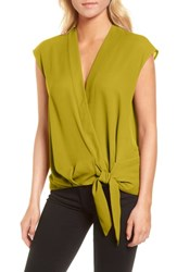 Trouve Wrap Top Olive Guilded