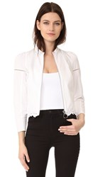 3.1 Phillip Lim Victoriana Jacket With Floral Embroidery White