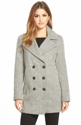 Marc New York 'Effie' Double Breasted Wool Blend Peacoat Grey
