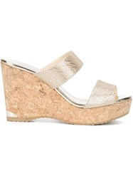 Jimmy Choo Parker 100 Wedges Metallic