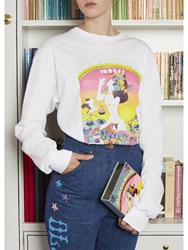 Olympia Le Tan Did You Get Your Pill Long T Shirt White