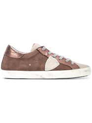 Philippe Model Lateral Patch Sneakers Pink Purple