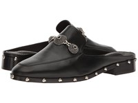 The Kooples Leather Mule With Jewels Black Women's Shoes