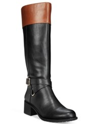 Styleandco. Style Co. Vedaa Wide Calf Boots Only At Macy's Women's Shoes Black Brown