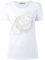 Versace Jeans Floral Beads T Shirt White