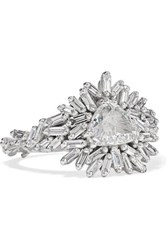 Suzanne Kalan 18 Karat White Gold Diamond Ring