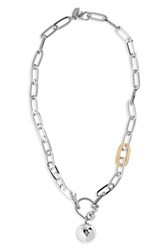 Cara Chain Link Necklace Silver