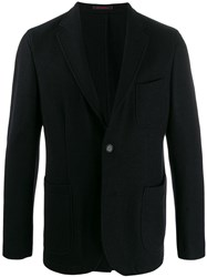 The Gigi Single Breasted Knitted Blazer Black