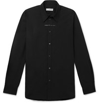 Givenchy Logo Print Cotton Poplin Shirt Black