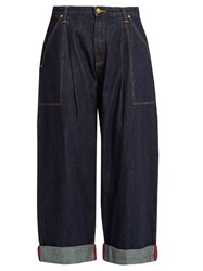 House Of Holland X Lee Low Rise Wide Leg Jeans Indigo