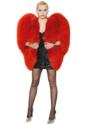 Saint Laurent Heart Shaped Fox Fur Cape