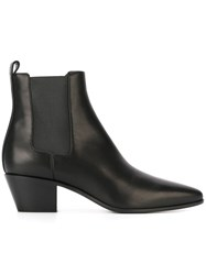 Saint Laurent 'Rock' Western Ankle Boots Black